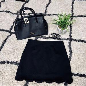 Crescent Size Large, Black Rayon Mini Skirt